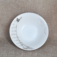 round shape porcelain salad bowl