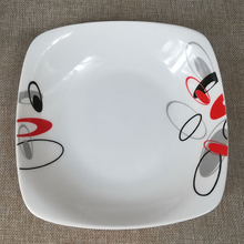 7 inch round or square porcelain plate