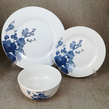 low price 12pcs porcelain dinner set