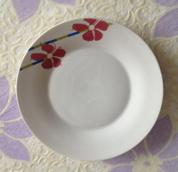 "8"" porcelain flat plate from Linyi China"