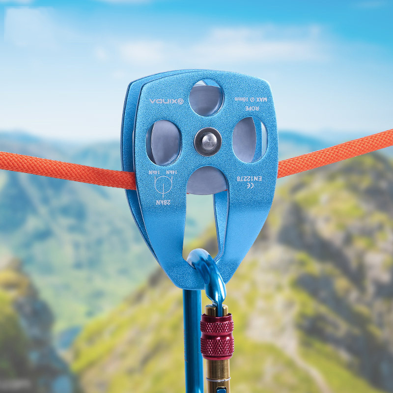 Outdoor Mountaineering Rescue Big Pulley, Hoisting Pulley Speed Drop Expansion, Transportation High Altitude Pulley