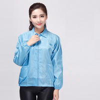 Lapel Long Sleeve Anti-static Top
