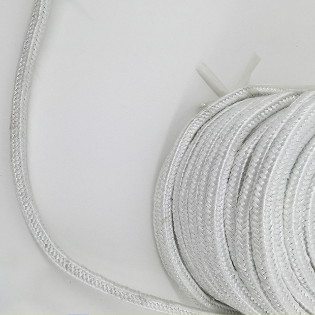 Glass Fiber Square Rope White High Temperature Fiber Rope