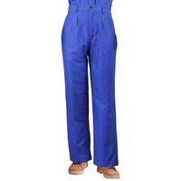 Blue fire retardant work pants