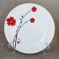10.5 inch porcelain dinner plate Linyi ceramic plate for daily use